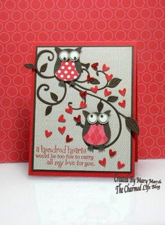CC515 ~hundred hearts~ by MaryR917 - Cards and Paper Crafts at Splitcoaststampers