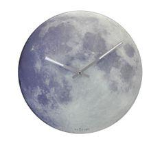 Självlysande väggklocka - NeXtime Blue Moon