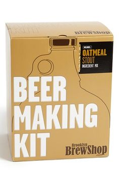 Brooklyn Brew Shop 'Chestnut Brown Ale' One Gallon Beer Making Kit Brooklyn, Brew Shop, Homemade Alcohol, Homemade Beer, Beer Making Kits, Urban Outfitters, Malted Barley, Anthropologie, How To Make Beer
