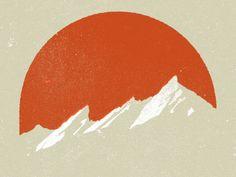 Flatirons - mountain sunset