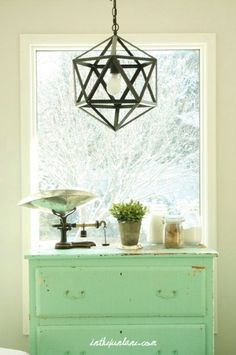 Like the light bright colors with the vintage accent color. Lantern = modern/clean lines
