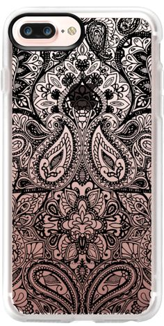 Casetify iPhone 7 Plus Case and iPhone 7 Cases. Other pattern iPhone Covers - Paisley Black by Aimee St Hill. | Casetify