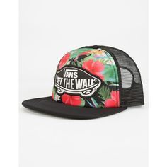 63ed1c74357 Vans Digi Aloha Womens Trucker Hat ( 20) ❤ liked on Polyvore featuring  accessories