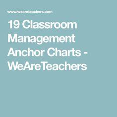 19 Classroom Management Anchor Charts - WeAreTeachers