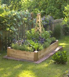 Raised Garden Bed Design In Wood Or Maybe Brick | Garden U0026 Landscape |  Pinterest | Raised Garden Bed Design, Raising And Gardens