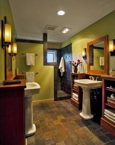 Love the walk-in shower and sinks on opposite sides: Award Winning Bathroom Renovation - contemporary - bathroom - burlington - Peregrine Design Build