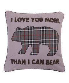 Look at this #zulilyfind! White Love Bear Lodge Pillow #zulilyfinds