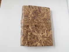 Embossed Leather Journal by artfuladdie on Etsy