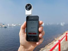 Shaka iPhone Wind Meter - Would be great for Surf Website to update accurate wind speeds