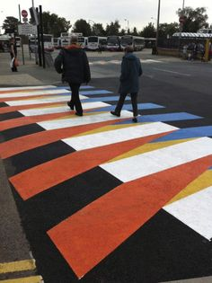 Cruz Diez, Crosswalks of Additive Color, 2011