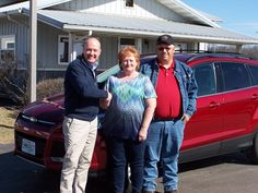 """Lookin"""" Good!! Many Thanks to Repeat Cutomers Judy & John Waddell from Kahoka on the purchase of your 2013 Ford Escape!!"""