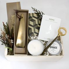 The Gent Gift Box for Him from Loved and Found. Perfect for a Groomsmen or Best Man Gift. Engagement Gift Boxes, Wedding Gift Boxes, Wedding Gifts, Gents Gift, Retreat Gifts, Gift Boxes For Women, Wedding Welcome Gifts, Christmas Party Favors, Christmas Gifts