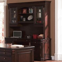 Home Office - Desk with Hutch