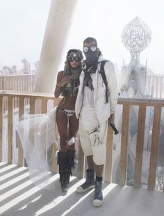 Burning Man at Black Rock City in Nevada desert couples outfit