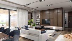 Projekt domu HomeKONCEPT-26 | HomeKONCEPT Living Room Modern, Home Living Room, Living Room Designs, Village House Design, Village Houses, Apartment Design, Planer, Modern Design, House Plans