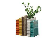 Terracotta Book Vases