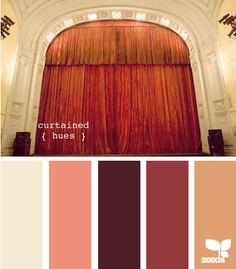 When you're selecting a color palette for your dorm room, find something you love and pull colors out of it. Example by Design Seeds Curtained Hues