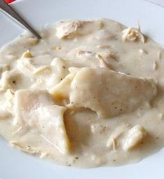 Homestyle Chicken and Dumplings      . The BakerMama's mama shows you how to make homestyle chicken