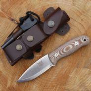 TBS Lynx Bushcraft Knife - DC3 & Firesteel Edition - Natural Micarta