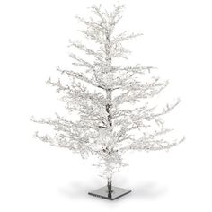 K & K Interiors Iced Christmas Tree (3 435 UAH) ❤ liked on Polyvore featuring home, home decor, holiday decorations, white y white home decor