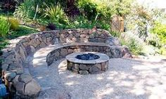 fire pit build into hill - - Yahoo Image Search Results