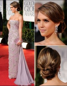 Jessica alba red carpet hair - beautiful sleek low bun looks great for special or formal occasions #greathair...x