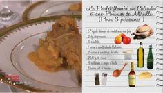 Le Poulet aux pommes, flambé au Calvados de Mireille
