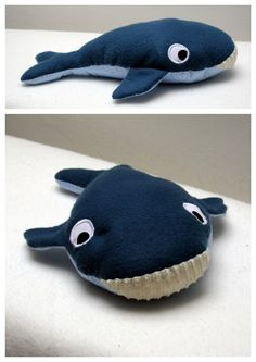 """Yesterday I presented the yellow snail of the story """"Little white fish"""", today here is the blue whale - Ocean Fabric, Fabric Art, Fabric Crafts, Sewing Crafts, Snail And The Whale, Sewing Online, Textiles, Felt Art, Diy Doll"""