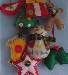 felt ornaments by GTcottagecrafts on etsy