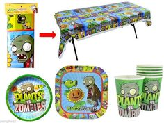 Plants vs. Zombies Birthday Party Super Combo by mexicotraditions