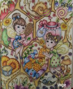 Markova, Color Inspiration, Enchanted, Fairy, Anime, Touch, Instagram, Coloring Pages, Elf
