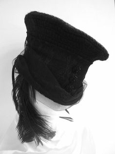Lady Louis's Corset Riding Hat by Blackpin on Etsy, £40.00