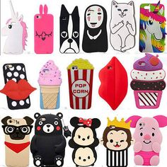 New 3D Cute Animals Cartoon Soft Silicone Case Cover Back Skin For Various Phone | eBay