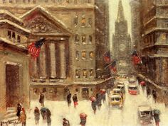 Wiggins, Guy C (b,1883)- Snowy Day Travel- Winter, NYC, I
