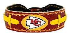 Kansas City Chiefs Team Color Football Bracelet