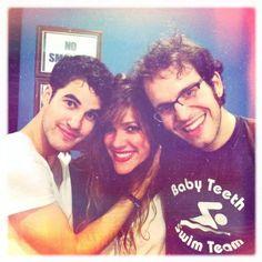 Darren Criss, Mia Swier (the girlfriend every fan is jealous of) & Theo Katzman.