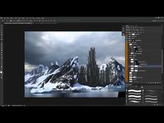 ▶ Create a Mountain Fortress Using Matte Painting Techniques in Photoshop - YouTube
