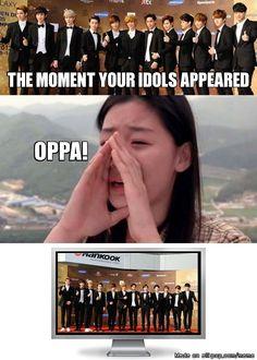 Life of a fangirl...behind the screen | allkpop Meme Center