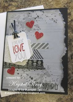 Gorgeous Grunge, Yippee-Skippee, Stampin' Up!, Birthday Card, Washi Tape www.stampinkrystal.blogspot.com