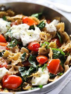 Fresh Tomato and Ricotta Whole Wheat Pasta Recipe on foodiecrush.com #sicilian-recipes #sicilia #sicily #italian-food