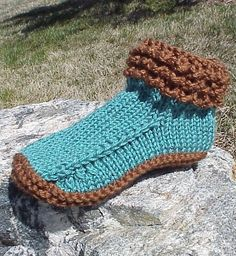 Free Knitting Pattern for Crocodilly Mocs