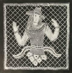 Lace design by Dagobert Peche, produced in 1921.