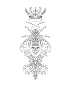 Queen Bee tattoo design by Vixy-Art tattoos Queen Bee tattoo design by Vixy-Art on DeviantArt Skull Tatto, Neck Tatto, Leg Tattoos, Body Art Tattoos, Sleeve Tattoos, Tatoos, Tattoo Designs, Tattoo Design Drawings, Sketch Inspiration