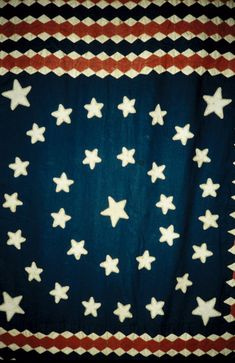 Flag Quilt with 34 stars, about 1861-1864, recorded by The Heritage Quilt Project of New Jersey. .