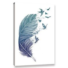 Tattoo Feather Design Art Prints New Ideas Feather Art, Feather Tattoos, Feather Design, Bird Design, Design Art, Tattoo Bird, Plume Tattoo, Design Ideas, Feather Painting