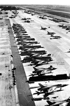 """""""Da Nang"""" Airbase with F-105 Thunder Chiefs - Photo by Larry Burrows - March…"""