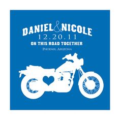 Personalized Love Wedding 8x10 Custom Print - Wedding Gift, Motorcycle, Travel…