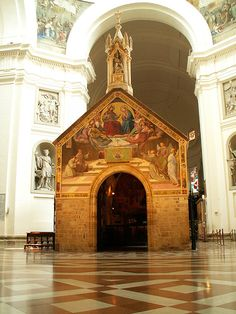 "Assisi, Basilica di Santa Maria degli Angeli, "" La porziuncola"" - Umbria  Exquisite little chapel within the larger church."