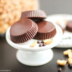 Healthy Homemade Peanut Butter Cups (sugar free, low carb, gluten free)