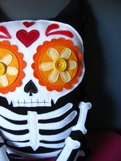 Orange Mexican Skull for Halloween - <3